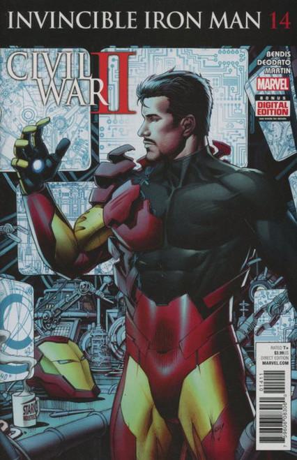Marvel Comics Invincibles Iron Man Vol. 2 #14 Civil War II Comic Book