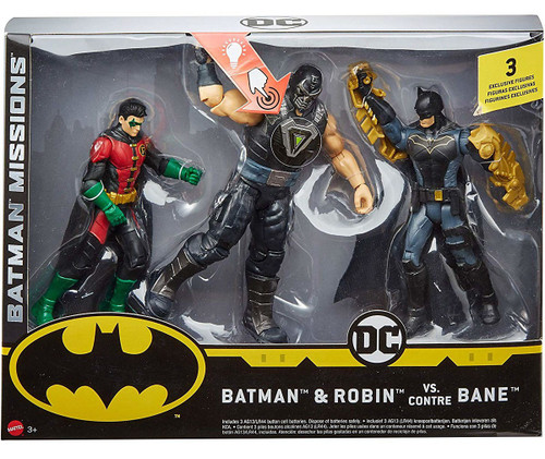 DC Batman Missions Batman & Robin vs. Bane Action Figure 3-Pack