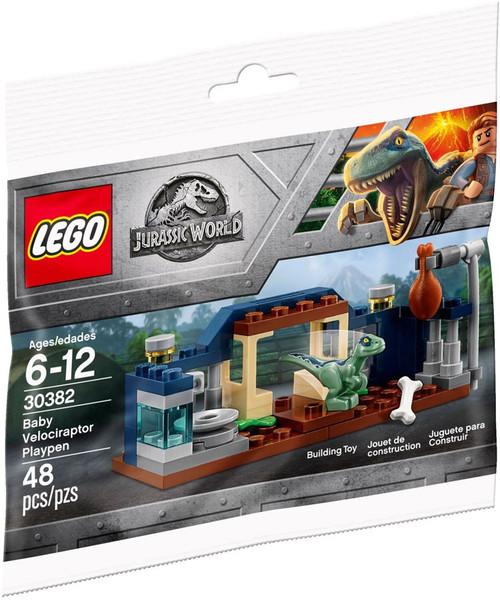 LEGO Jurassic World Baby Velociraptor Playpen Set #30382 [Bagged]