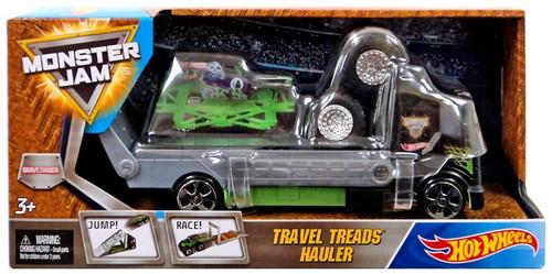 Hot Wheels Monster Jam Travel Treads Hauler Grave Digger Die-Cast Car