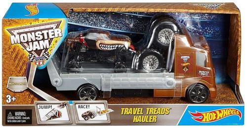 Hot Wheels Monster Jam Travel Treads Hauler Monster Mutt Die-Cast Car