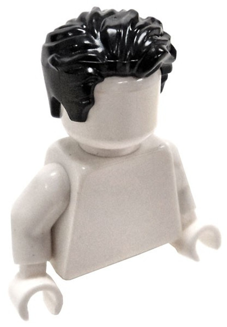LEGO Black Swept to Left, Tousled Loose Hair [Loose]