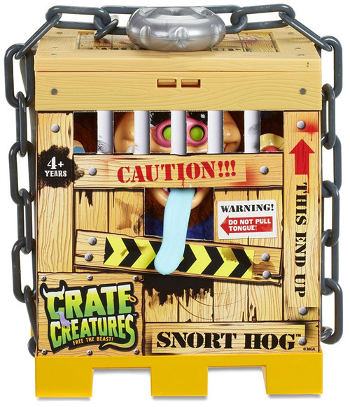 Crate Creatures Free the Beast! Snort Hog Figure