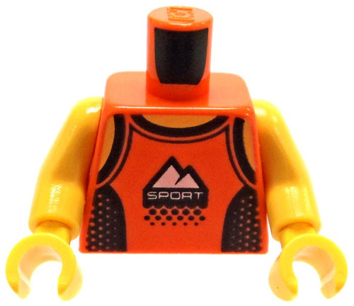 "LEGO Orange Tank Top with White Mountains and ""Sport"" Logo Loose Torso [Loose]"