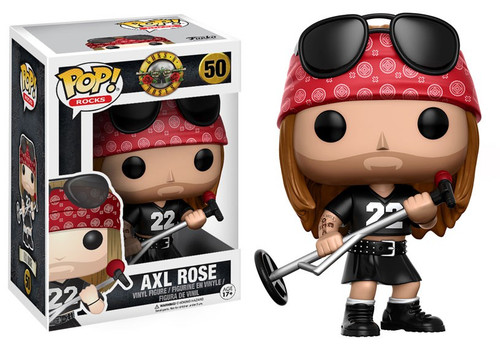 Funko Guns N Roses POP! Rocks Axl Rose Vinyl Figure #50 [Damaged Package]
