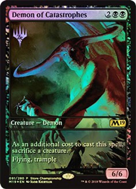 MtG Promo Cards Promo Demon of Catastrophes [Dominaria Store Championship]