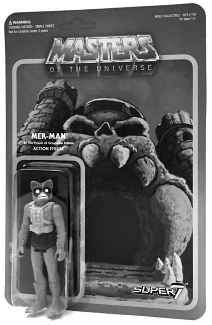 ReAction Masters of the Universe Mer-Man Exclusive Action Figure [Grayscale]