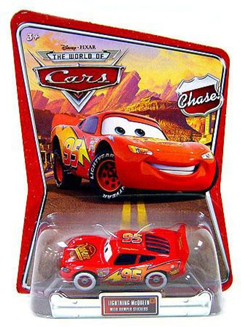 Disney / Pixar Cars The World of Cars Series 1 Lightning McQueen with Bumper Stickers Diecast Car [Loose]