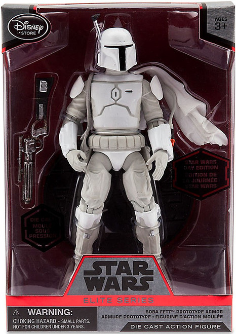 Disney Star Wars Elite Boba Fett in White Prototype Armor 7-Inch Diecast Figure