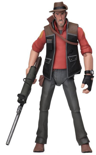 NECA Team Fortress 2 RED Series 4 Sniper Action Figure