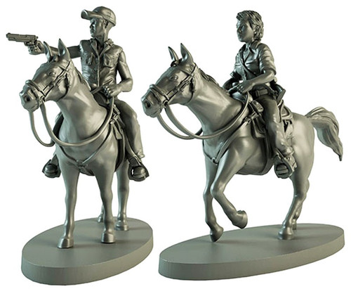 The Walking Dead Walking Dead All Out War Miniature Game Maggie & Glenn on Horseback Expansion