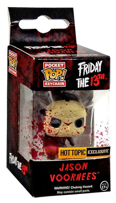 Funko Friday the 13th Pocket POP! Movies Jason Voorhees Exclusive Keychain [Glow-in-the-Dark, Damaged Package]
