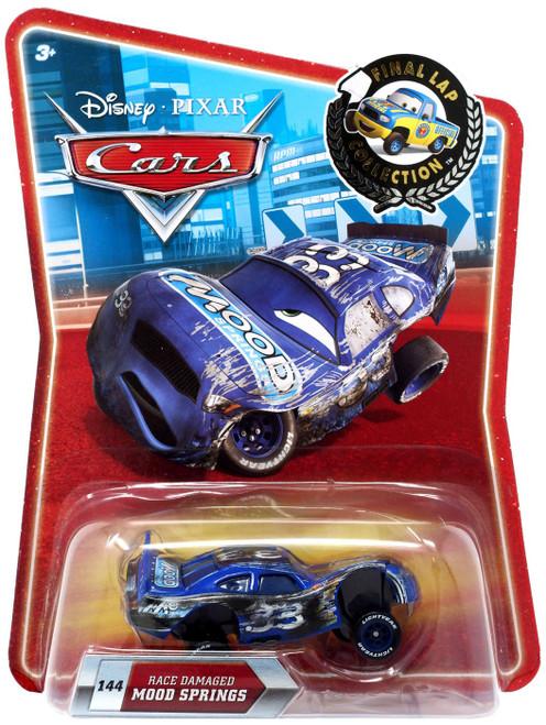 Disney / Pixar Cars Final Lap Collection Race Damaged Mood Springs Exclusive Diecast Car
