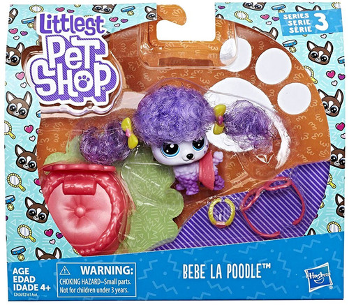 Littlest Pet Shop Premium Pet BeBe La Poodle Figure Pack