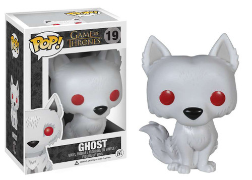 Funko Game of Thrones POP! TV Ghost Vinyl Figure #19 [Damaged Package]