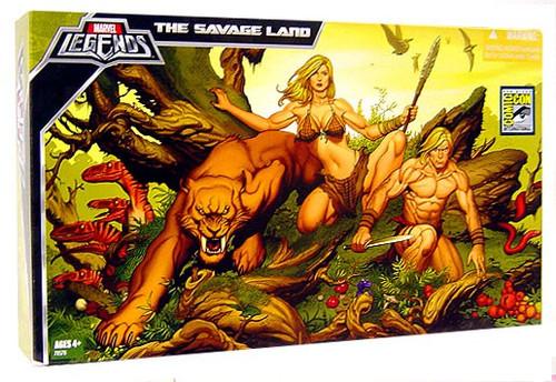 Marvel Legends The Savage Land Exclusive Action Figure 3-Pack [Ka-Zar, Shanna & Zabu]