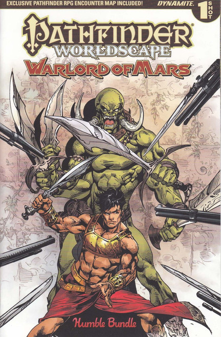 Dynamite Entertainment Pathfinder Worldscape World of Mars Comic Book [Humble Bundle One Shot]