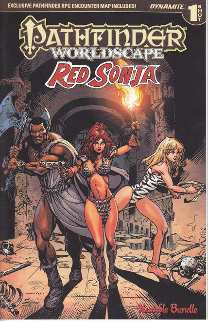 Dynamite Entertainment Pathfinder Worldscape Red Sonja Comic Book [Humble Bundle One Shot]