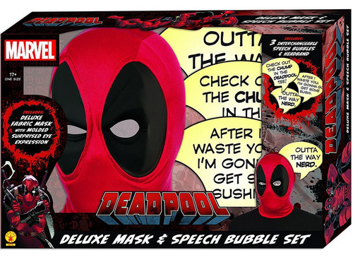 Marvel Deadpool Deluxe Mask & Speech Bubble Exclusive Roleplay Set [Damaged Package]