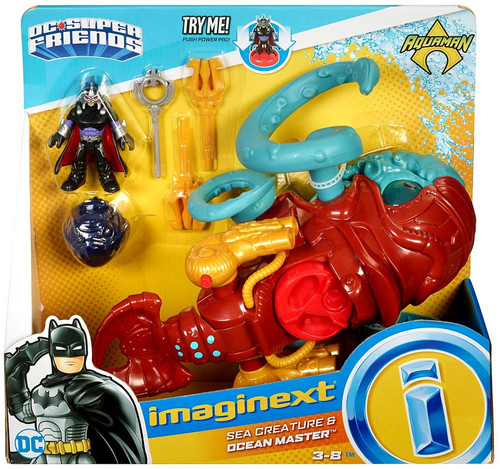 Fisher Price DC Super Friends Imaginext Aquaman Sea Creature & Ocean Master Figure Set