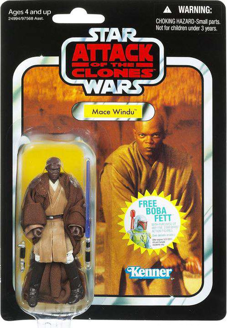 Star Wars Attack of the Clones 2011 Vintage Collection Mace Windu Action Figure #35