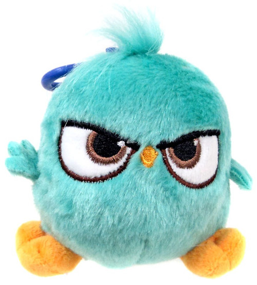 Angry Birds Hatchlings Blue-Green 4-Inch Plush Clip On