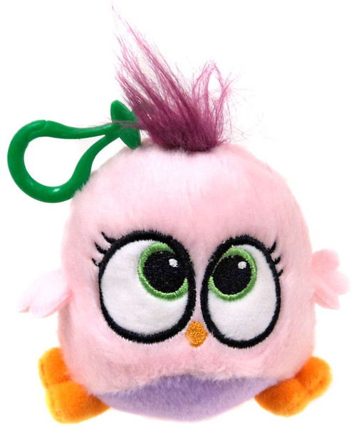Angry Birds Hatchlings Pink & Purple 4-Inch Plush Clip On
