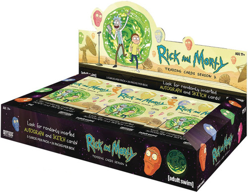 Rick & Morty Season 2 Trading Cards Box [24 Packs]
