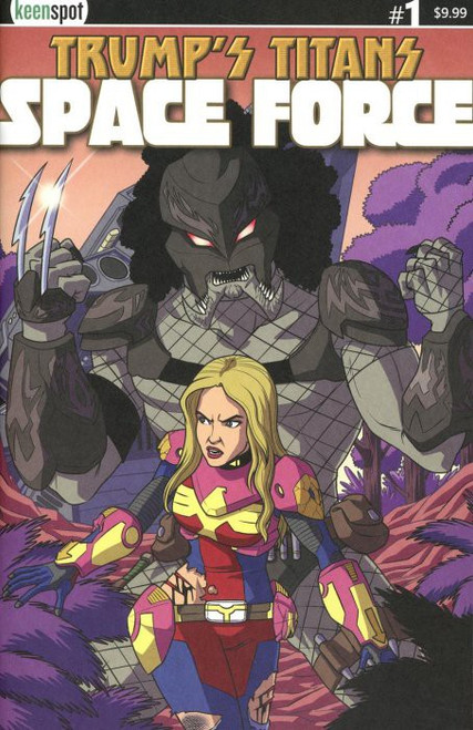 Keenspot Entertainment Trumps Titans Space Force #1 Comic Book [Ivanka Vs. Predator Variant Cover]