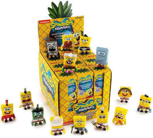 Nickelodeon Spongebob Squarepants Many Faces of Spongebob 3-Inch Mystery Box [24 Packs]