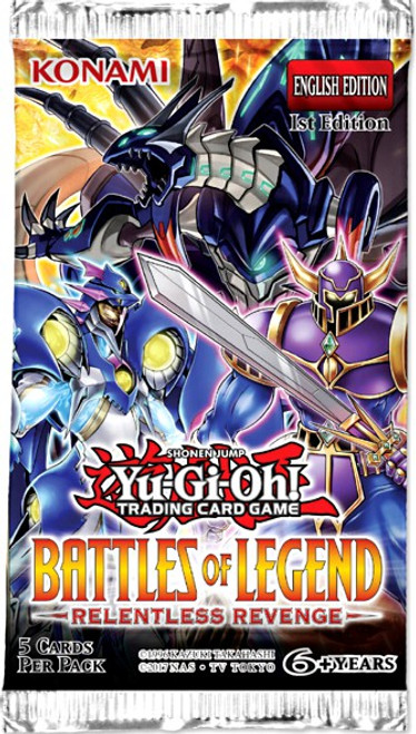 YuGiOh Trading Card Game Battles of Legend Relentless Revenge Booster Pack [5 Cards]