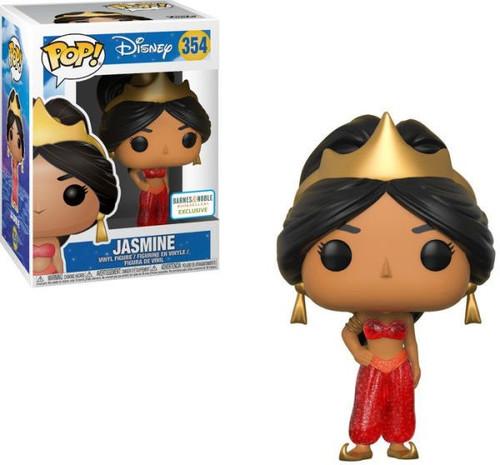 Funko Aladdin POP! Disney Jasmine Exclusive Vinyl Figure #354 [Red Glitter Animated]