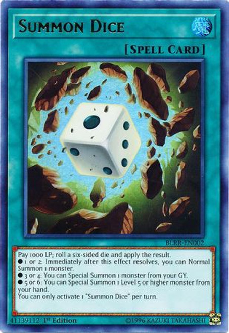 YuGiOh Battles of Legend: Relentless Revenge Ultra Rare Summon Dice BLRR-EN002