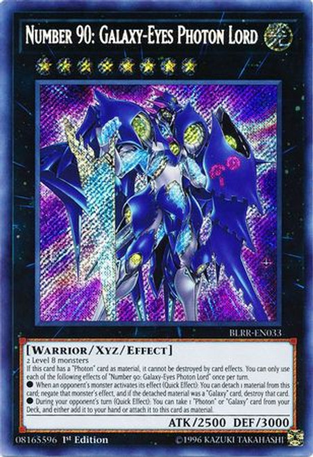 YuGiOh Battles of Legend: Relentless Revenge Secret Rare Number 90: Galaxy-Eyes Photon Lord BLRR-EN033