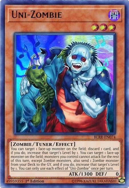 YuGiOh Battles of Legend: Relentless Revenge Ultra Rare Uni-Zombie BLRR-EN074