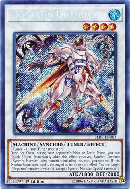 YuGiOh Battles of Legend: Relentless Revenge Secret Rare Crystron Quandax BLRR-EN083