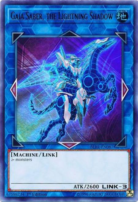 YuGiOh Battles of Legend: Relentless Revenge Ultra Rare Gaia Saber, the Lightning Shadow BLRR-EN087