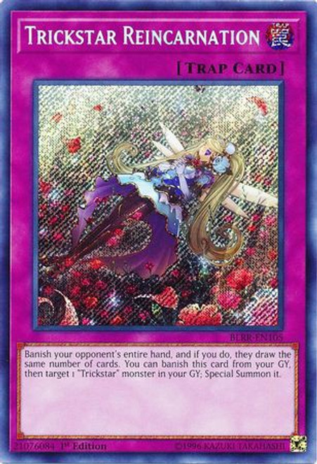 YuGiOh Battles of Legend: Relentless Revenge Secret Rare Trickstar Reincarnation BLRR-EN105
