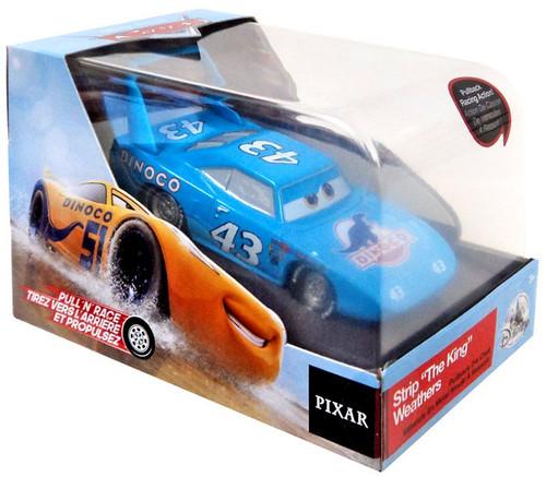 "Disney / Pixar Cars Cars 3 Pull 'N' Race Strip ""The King"" Weathers Exclusive Diecast Car"