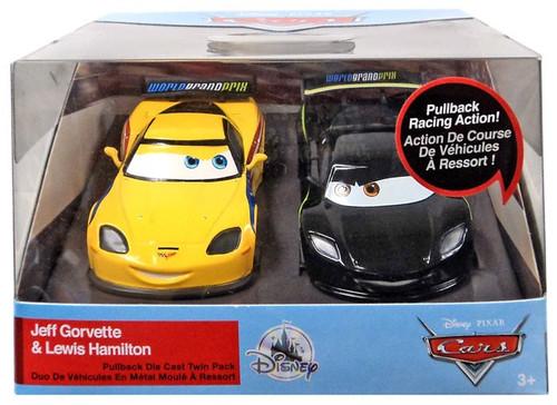 Disney / Pixar Cars Cars 3 Pull 'N' Race Jeff Gorvette & Lewis Hamilton Exclusive Diecast Car 2-Pack