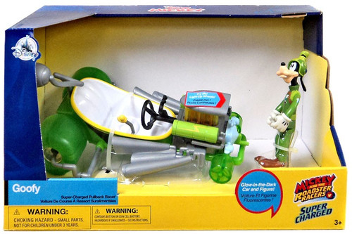 Disney Mickey & Roadster Racers Super Charged Goofy Exclusive Pullback Racer