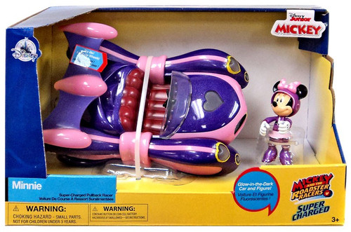 Disney Mickey & Roadster Racers Super Charged Minnie Exclusive Pullback Racer
