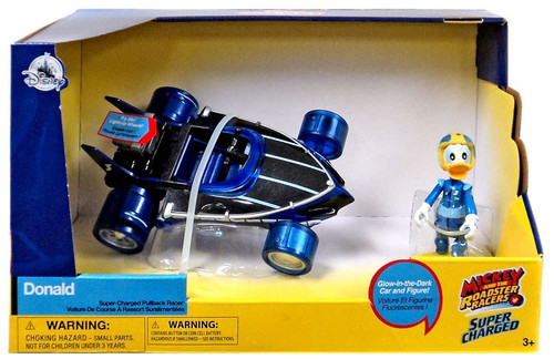 Disney Mickey & Roadster Racers Super Charged Donald Exclusive Pullback Racer
