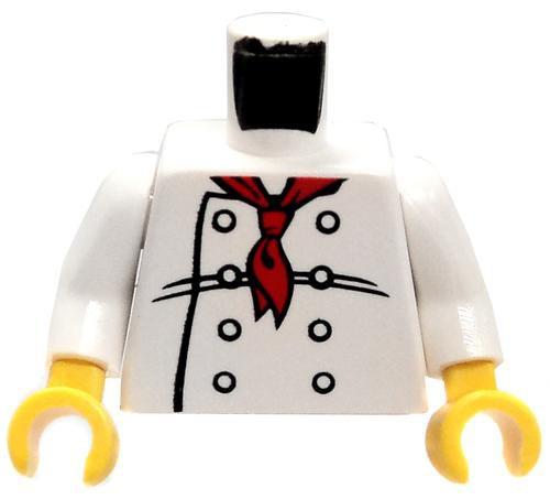 LEGO Chef with Red Neckerchief Loose Torso [Loose]