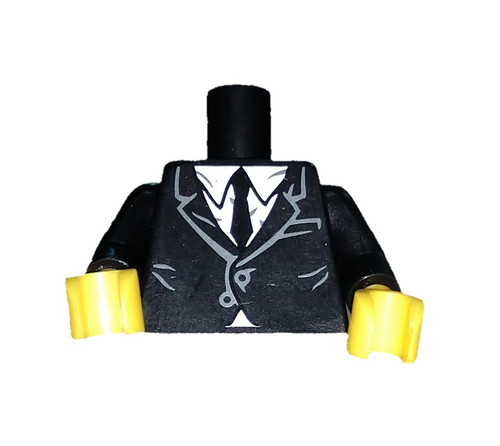 LEGO Suit with White Shirt and Black Tie Loose Torso [Loose]