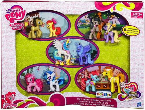 My Little Pony Friendship is Magic Pony Friends Forever Collection Exclusive 2-Inch Mini Figure 10-Pack
