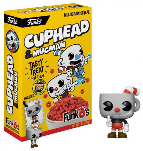 FunkO's Cuphead Exclusive 7 Oz. Breakfast Cereal [Yellow Box, Cuphead & Mugman]