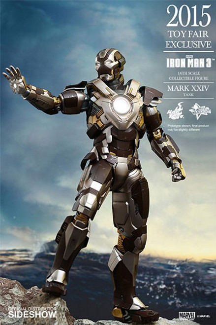 Marvel Iron Man 3 Movie Masterpiece Diecast Iron Man Mark XXIV Tank Collectible Figure