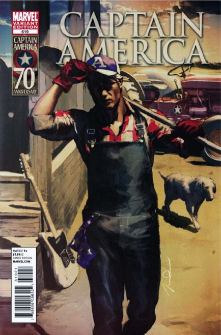 Marvel Comics Captain America #619 Comic Book [Gerald Parel Variant Cover]