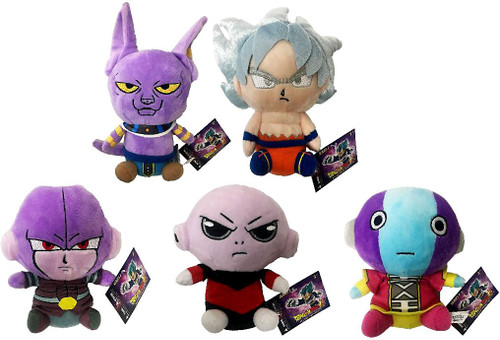 Dragon Ball Super Series 2 Beerus, UI Son Goku, Hit, Jiren & Zeno Set of 5 Plush